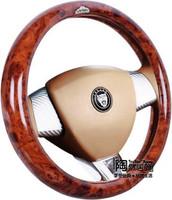 Advanced eco-friendly breathable slip-resistant slams peach wood super-fibre car steering wheel