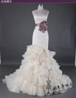 2013 Slim Mermaid actual wedding dress wedding gown Top custom-made Us0047