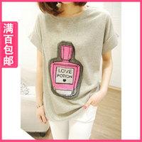 2013 mushroom women's t-shirt loose short-sleeve shirt