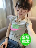 Mushroom honey summer women's t-shirt short-sleeve loose women's clothing clothes
