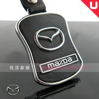 2011 circarc 4s MAZDA cowhide car keychain ring horse 3-6-2-5-8cx-7