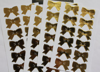 SS002 Fantastic Gold Bow Foil Seal Sticker for Wedding Decoration/Card Making/Scrapbooking Accessories