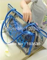 2013 summer new fashion transparent jelly beach bag candy color handbag TOUGH shoulder bag tide female LMN