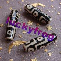 new AA 30x10mm 15pcs/lot black Prayer Mala Tibetan Mystical Agate Dzi 9 Eyes Beads wholesale Free Shipping