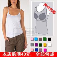 Plus Size S~XXL Hi-Q Black White Modal  brand new belt pad cup one-piece bra  strap vest adult Women sports Camis active casual