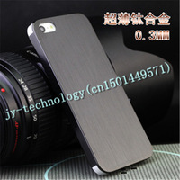 0.3mm Thin Brushed Aluminum case for iphone 5 Hard Luxury, Titanium steel mesh Metal cover for iphone 5 Free shipping