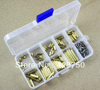 Male-Female M2 Brass Standoff / Screw / Nut Assortment Kit