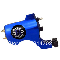 Pro Bishop Style Rotary Tattoo Machine Gun Blue For Tattoo Needle Ink Cups Tips Kits