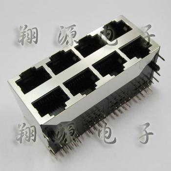 Ethernet port internet socket RJ45 2*4 8P 8 core plug