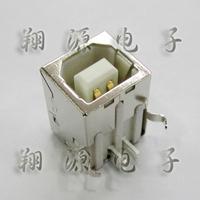 High quality usb socket b 90 copper white gold plated 3u