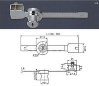 Free Shipping Large size Cabinet Display Showcase Drawer Case Sliding Glass Door Lock 2 Keys