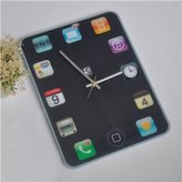 Free shipping DIY Ipad Shape Wall Clock Creative Home decorations Super mute Fashion Design Creative Gift