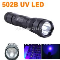 New UltraFire WF-502B CREE UV LED Flashlight 502B Purple Light UV 395nm Ultraviolet Lamp free shipping