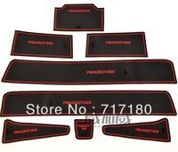 Peugeot 508 PVC door gate slot pad/mat  tank gasket cup mat/pad auto accessories 8pcs/set