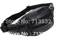 2014 NEW MEN Vintage bag cowhide waist bag running belt sports travel packs wholesale , free shipping QYR0274