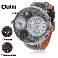 New wholesale retail Oulm double movement watch calendar watch compass thermometer outdoor watch Relogio
