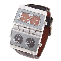 New wholesale retail Oulm unique movement male watch genuine leather watchband fashion elegant watch Relogio