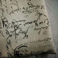 ZAKKA linen cotton fabric Black letters printed  linen cotton cloth  for DIY craft 155*100cm wholesale