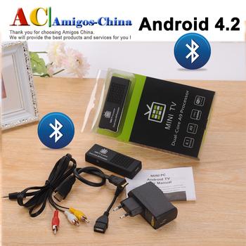 Original 100% Android tv box MK808C Bluetooth Android 4.2.2 HDMI Dongle +AV Port Allwinner A20 Dual-Core Miracast 1GB 8GB