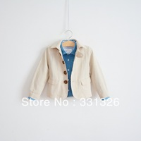 New Arrival (6 pieces/lot) 100% linen,Boy's casual blazer,Fashion school style