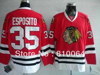 blackhawks 35 Tony Esposito jerseys jersey in stock dropship