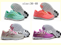 Free Shipping 2013 New Free 5.0+ Running shoes Wholeslae Women Brand Barefoot sport shoes ,Size:36-40