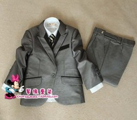 New arrival 2013 male child suit formal dress children's clothing child suit blazer set triangle set