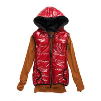 2012 women's cotton down vest women's spring and autumn fashion hooded vest Women vest
