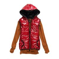 2012 women's cotton down vest women's spring and autumn fashion hooded vest Women vest