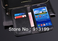 1Pcs Luxury Flip Genuine Leather Case Wallet Cover Skin Stand For Samsung Galaxy Grand Duos gt-i9082 i9080 credit Card Holders