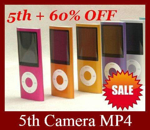 "30pcs Classic Model 5TH Camera MP4 player 2.2"" screen 16GB memory Support mutil language DHL Free shipping(China (Mainland))"
