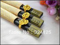 10 Pairs of silk set of Wooden Sakura Chopsticks Ukiyoe Tableware Chopsticks can mixed color Free shipping