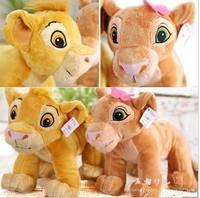 Free ship children/kid/baby pp cotton Stuffed Toy birthday gift doll plush toys Lion King Simba 2pes/lot 30cm