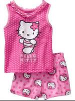 wholesales kids summer cotton short  pajamas set baby costumes children fashion cartoon sleepwear baby homewear