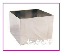 Stainless steel square baking mousse ring pineapple cake mould biscuits shear modulus gibbery