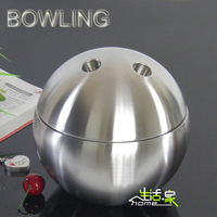 Fashion stainless steel ice bucket bowling ball ice-pail double layer ice bucket ice-pail