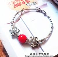 National accessories tibetan miao silver national Women trend butterfly bracelet