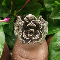 Miao silver bracelet handmade national vintage fashion trend silver jewelry bracelet rose