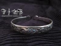 Miao accessories handmade silver bracelet round toe pisces