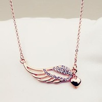 David jewelry wholesale 18k gold plated  Angel wings   necklace   free shipping (Min order $10 mixed order) X127
