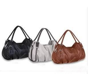 2013 New Female PU Handbags, 1045 High Quality Fashion Casual Black Shoulder Bag()
