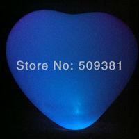 50 pcs/Lot, Free Shipping, Led Light Flashing Balloons, Heart style. Festival, Party, Wedding Decoration, 5 Colour. 5Pcs/ Bag.