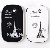 X129 The stationery, PuWei add black and white to restore ancient ways in Paris, multi-function pen canvas bag to receive bag
