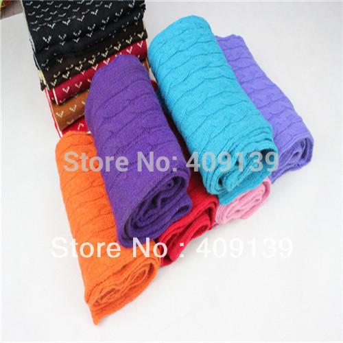 2014 fashion wool winter scarf women Diamond stripe pashmina knitted warm scarves for women lady long scarves(China (Mainland))