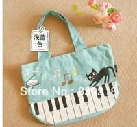 X130 Music character gift hand carry bag,Cotton candy color bento fashion handbags