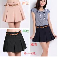 2013 summer loose casual high waist chiffon plus size shorts female shorts culottes