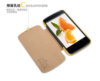 Genuine Brand New NILLKIN Stander Flip Leather Fresh Wallet Cover Case Skin Back Cover for LG E960 Nexus 4