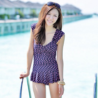 2013 13002b hot spring swimwear one-piece dress swimwear female swimsuits