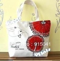 2012 canvas bag eco-friendly bag handbag one shoulder fashion shopping bag bb0056