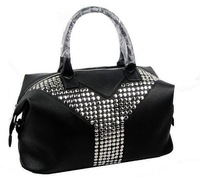 Excellent black real leather bag